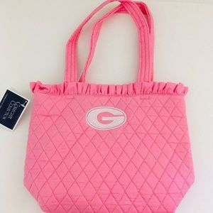 NWT! University of Georgia Quilted Pink Purse